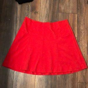LOFt flows red orange skirt!